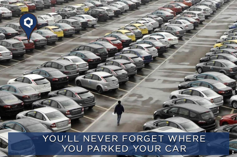 Find Your Car Easily From The Crowd Parking | Tracker For Car